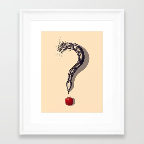 Curious Temptation Framed Art Print