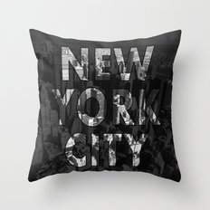 New York City - Black Throw Pillow