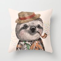 Mr.Sloth Throw Pillow