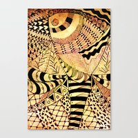 Elephant Butterfly Colle… Canvas Print