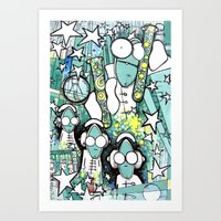 Visuals of Inexplicable Maybe, Act 1 Art Print