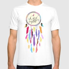 Dreamcatcher White Mens Fitted Tee SMALL