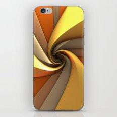 Tri-Gold Spiral iPhone & iPod Skin