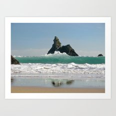 BroadHaven South Beach.Pembrokeshire.Wales. Art Print