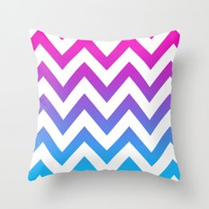 PINK & TEAL CHEVRON FADE Throw Pillow