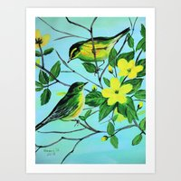 Thinking Of Spring  Art Print