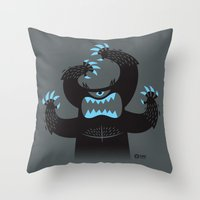 Monster In My Pants Throw Pillow