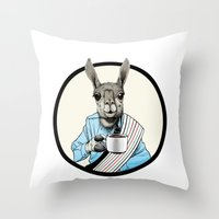 Java Llama Throw Pillow
