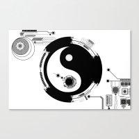Tech Yin Yang Canvas Print