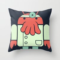 Why Not Droidberg Throw Pillow