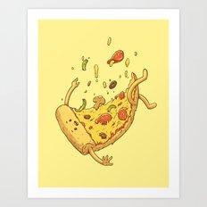 Pizza fall Art Print