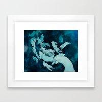 MoonTrail Ghosts Framed Art Print