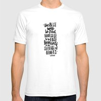 FIND YOURSELF - Ghandi Mens Fitted Tee White SMALL