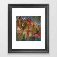 Mountaintop Blues Framed Art Print