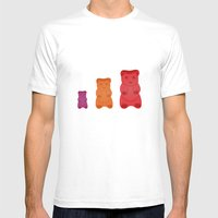 Gummy Bears Mens Fitted Tee White SMALL