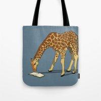 Reading Giraffe Tote Bag