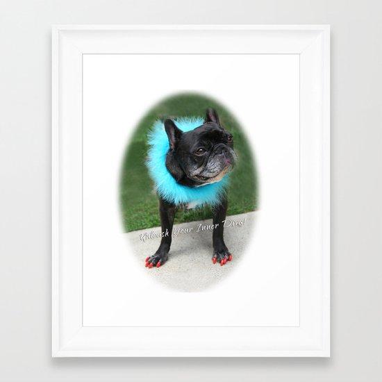 Diva Dog Framed Art Print