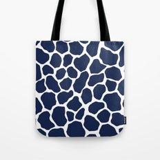 Giraffe Animal : Navy Tote Bag