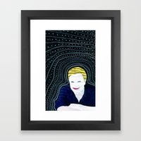 Still attached Framed Art Print