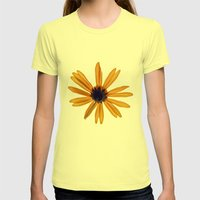 Towards the Sun...8689 Womens Fitted Tee Lemon SMALL