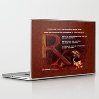 Laptop & iPad Skin featuring Depression or the Pain - 111 by Lazy Bones Studios