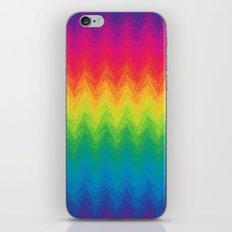 neon rainbow feather chevron  iPhone & iPod Skin