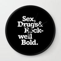 Sex, Drugs & Rockwell Bo… Wall Clock