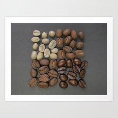 coffee beans pattern Art Print