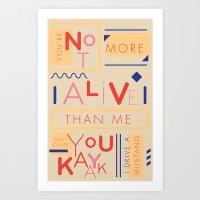 Haikuglyphics - Do The D… Art Print