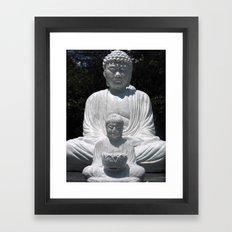 big buddha and little buddha Framed Art Print
