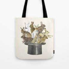 Rabbits in the hat Tote Bag