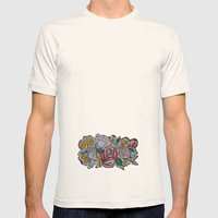 Street Flowers Mens Fitted Tee Natural SMALL