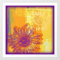 Sunflower Pop Art - Digital Painting Art Print