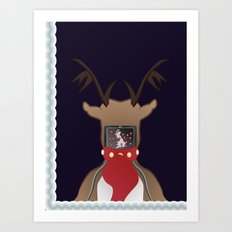 Christmas Card - I Can't Find Britain! Art Print