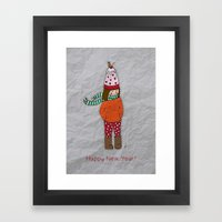 New Year Girl!  Framed Art Print