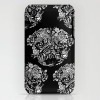 iPhone 3Gs & iPhone 3G Cases featuring Botanical Garden Pug by Huebucket