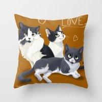 Meow Love Throw Pillow