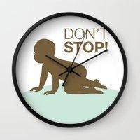 DON'T STOP Wall Clock
