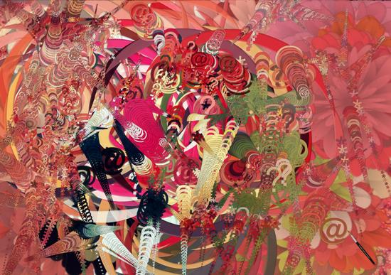 Media Explosion Canvas Print