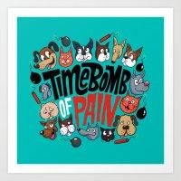 Time Bomb of Pain Art Print