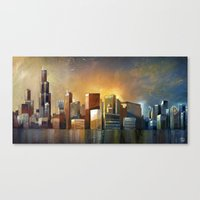 Canvas Print featuring Chicago Sunrise by S.G. DeCarlo