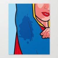 The secret life of heroes - Super Sweat Canvas Print