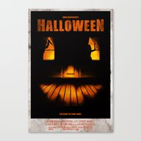 Halloween Poster Canvas Print