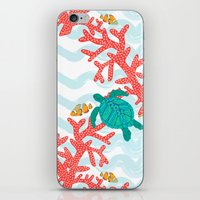 Clowning Around With Sea Turtles on The Reef iPhone & iPod Skin