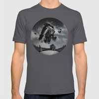 Monkey See Monkey Flew Mens Fitted Tee Asphalt SMALL