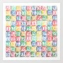 Children's Blocks Art Print