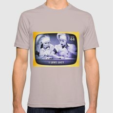 I Love Lucy Mens Fitted Tee Cinder SMALL