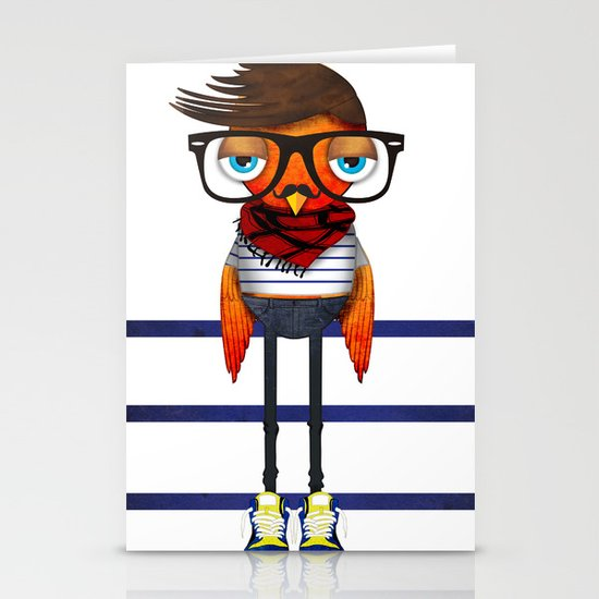 Hipster Bird Stationery Card