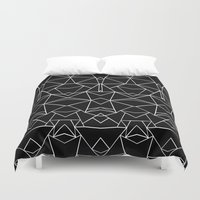 Ab Mirror Black Duvet Cover