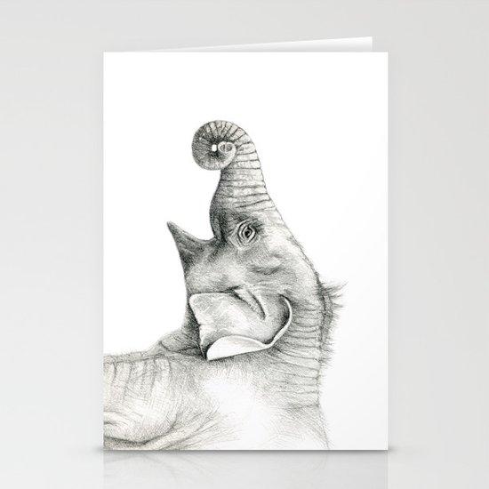 Baby Elephant G005 Stationery Card